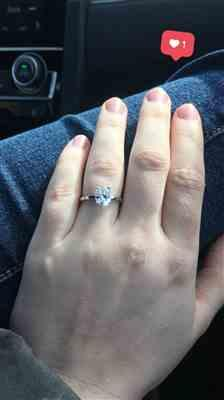 Allison M. verified customer review of 2 ct Oval Classic Solitaire Ring