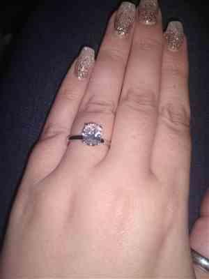 Sara verified customer review of 2 ct Oval Solitaire Ring