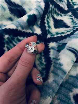 Brittney Daniel verified customer review of 1 ct Classic Solitaire Ring - 10k Solid White Gold