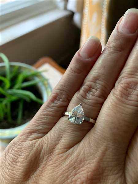 ANGELICA MADDOX verified customer review of 2 ct Pear Solitaire Ring