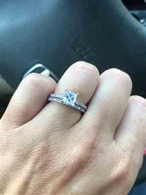Jason S. verified customer review of 1.25 ctw Princess Accented Solitaire Set