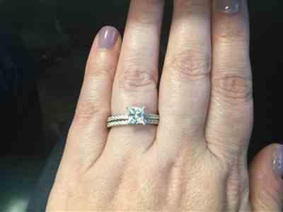 Bobbi M. verified customer review of 1.25 ctw Princess Accented Solitaire Set