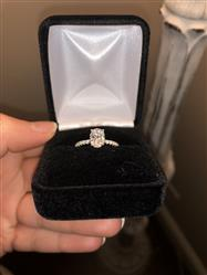 Alexis  verified customer review of 1.25 ctw Oval Accented Ring - 10k Solid White Gold, Sz 5 or 7