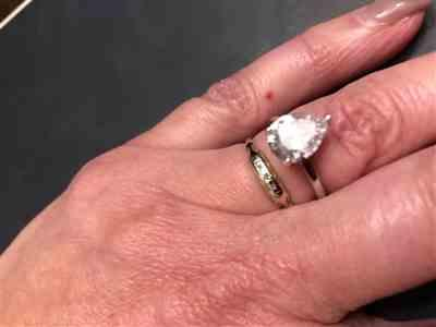 Angie M. verified customer review of 3 ct Pear Solitaire Ring