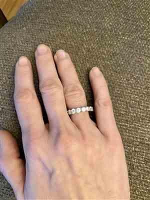 Angela W verified customer review of 4 ctw Classic Eternity Band - Rose GP
