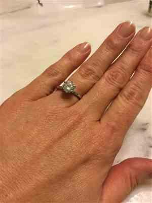Emily Finney verified customer review of 1.5 ct 6 Prong Solitaire Ring