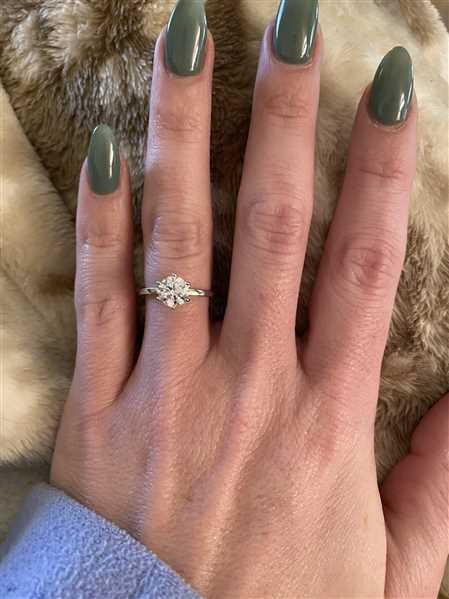 Abby verified customer review of 1.5 ct 6 Prong Solitaire Ring