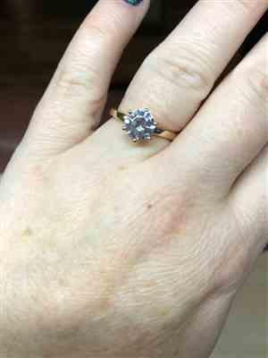 Robin Rhoades verified customer review of 1.5 ct 6 Prong Solitaire Ring