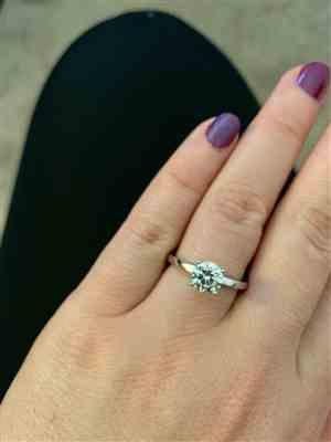 Lorena L. verified customer review of 1 ct 4 Prong Solitaire Ring