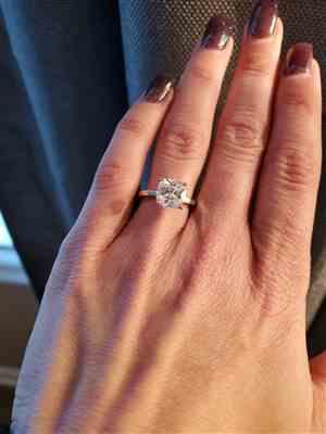 Johanna Lawrence  verified customer review of 2 ct 4 Prong Solitaire Ring