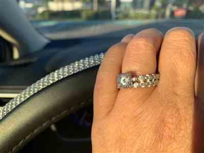 Tracy C. verified customer review of 4 ctw Classic Solitaire Full Eternity Set, Sz 4-10