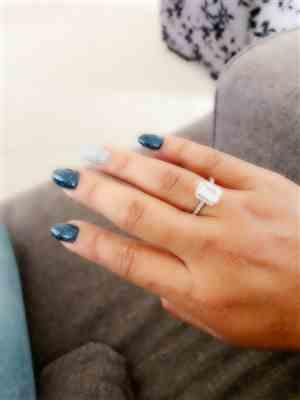 Daisy May verified customer review of 2 ctw Emerald Halo Ring