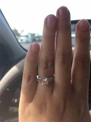 Jennifer Lee verified customer review of 2.25 ctw Round Accented Solitaire Set