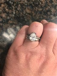 Jessica H. verified customer review of 1.5 ctw Micropave Pear Halo Ring - 40% Final Sale
