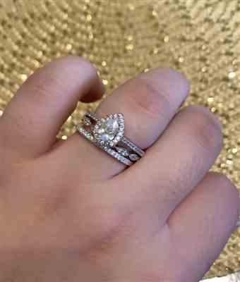 Madison Bates verified customer review of Short Micropave Half Eternity Band, 40% Final Sale, Sz 5-8