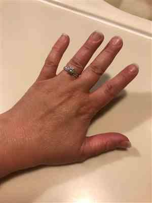 Laura L. verified customer review of 1.25 ctw Round Baguette Solitaire Ring - 60% Final Sale