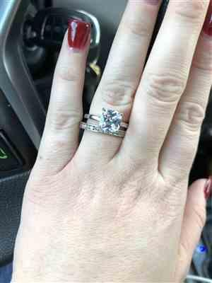 Kaysie Partlow verified customer review of 2 ct Cushion Cut Solitaire Ring
