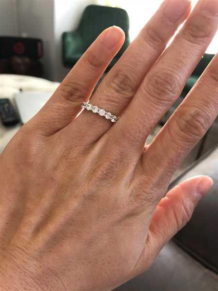 Sally Tran verified customer review of 1 ctw Half Eternity Band