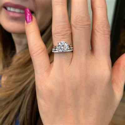 R Nolan verified customer review of 3 ct 4 Prong Solitaire Ring - 10k Solid White Gold