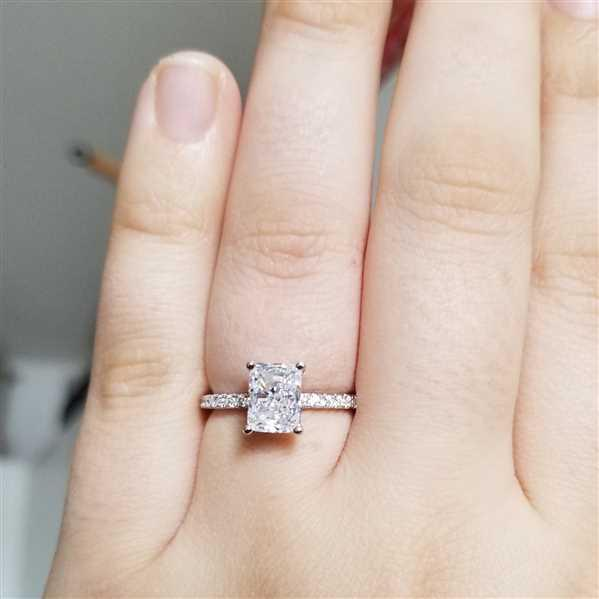 Torri verified customer review of 2 ctw Radiant Accented Solitaire Ring