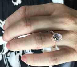 Kyli  verified customer review of 2.25 ctw Oval Halo Ring - Rose GP