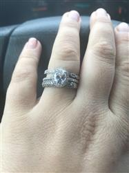 Alyssa H. verified customer review of 1.5 ctw Art Deco Oval Halo Set