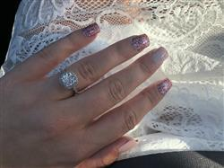 Alexia Fink  verified customer review of 2.25 ctw Art Deco Halo Ring