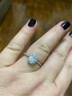 Tiger Gems 1.5 ctw Oval Halo Ring Review
