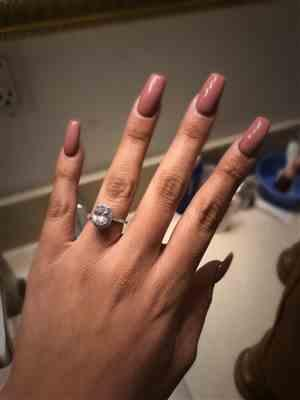 Claudia Benitez  verified customer review of 2.25 ctw Oval Halo Ring