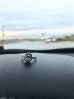Gabriel H. verified customer review of 2.25 ctw Oval Halo Ring
