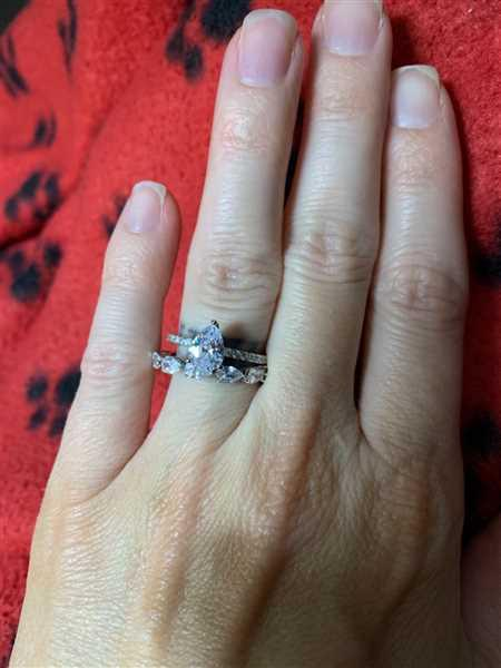 Chelsea Sherick verified customer review of 1.5 ctw Pear Halo Ring