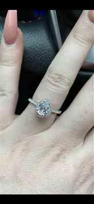 Stephanie Staff verified customer review of 1.5 ctw Pear Halo Ring