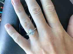 James E. verified customer review of 1.5 ctw Pear Halo Ring