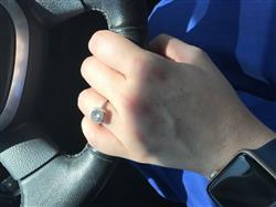 Tracy G. verified customer review of 2.25 ctw Square Halo Ring