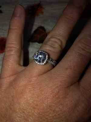 Diana Frye verified customer review of 2.25 ctw Square Halo Ring