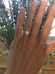 Emily D. verified customer review of 3/4 ctw Square Halo Ring