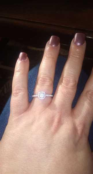 Kim K. verified customer review of 3/4 ctw Square Halo Ring