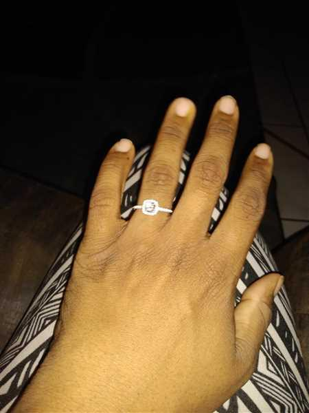 Kimberly Holmes verified customer review of 3/4 ctw Square Halo Set