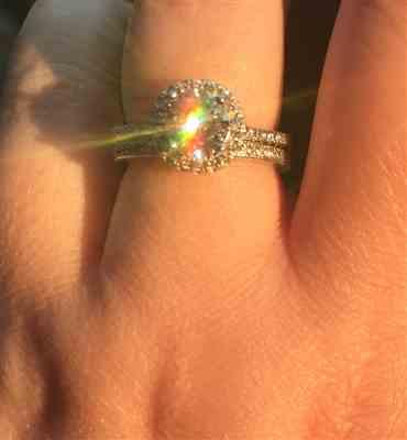 Terri verified customer review of 1.5 ctw Classic Round Halo Ring