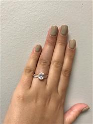 Candace G. verified customer review of 1.5 ctw Oval Halo Ring - Rose GP