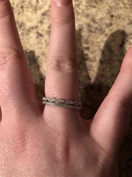 Ryan Litwin verified customer review of Art Deco Half Eternity Band Set