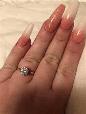 Heather Swindle verified customer review of 1.5 ct 6 Prong Solitaire Ring - 40% off Final Sale. Sz 10 or 12