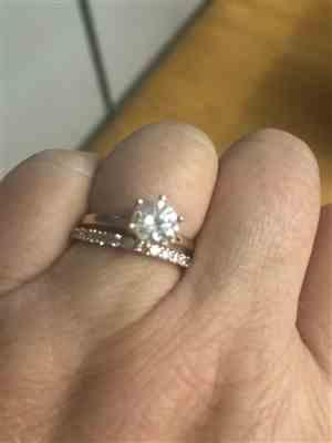 Heather McClure verified customer review of 1.5 ct 6 Prong Solitaire Ring - Rose GP, 40% Final Sale, Sz 8-12