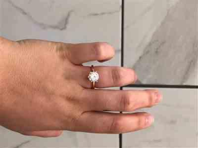 Clairissa r. verified customer review of 3 ct 6 Prong Solitaire Ring - Rose GP, 60% Final Sale, Sz 8.75-12