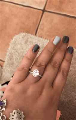 Macayla M. verified customer review of 3.25 ctw Oval Accented Solitaire Ring