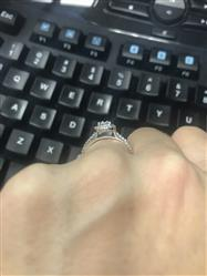 Heather verified customer review of 1 ctw Pear Halo Ring