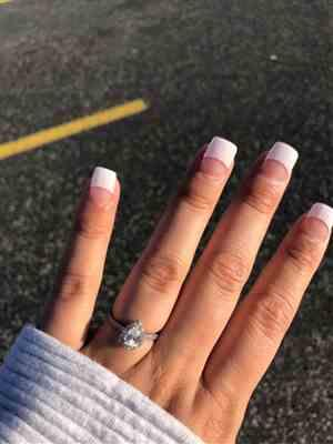 Simpson verified customer review of 1 ctw Pear Halo Ring