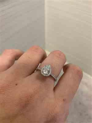 Jody Martinez verified customer review of 1 ctw Pear Halo Ring