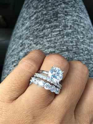 TK verified customer review of 3 ct 4 Prong Solitaire Ring - 40% off Final Sale