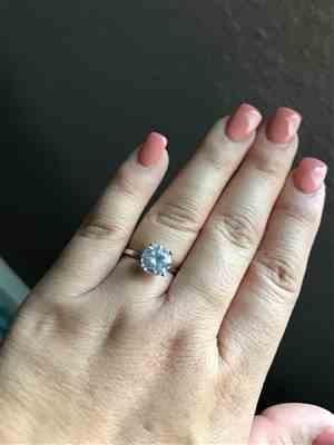 eva p. verified customer review of 3 ct 4 Prong Solitaire Ring - 40% off Final Sale